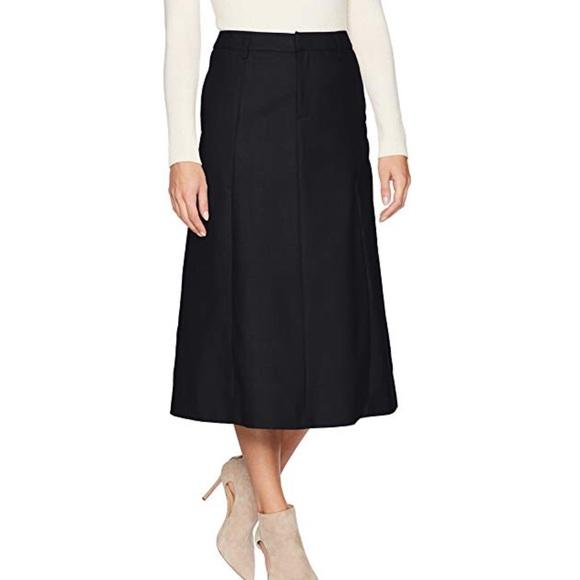d0494fa2370 Talbots Black Italian Flannel wool riding skirt